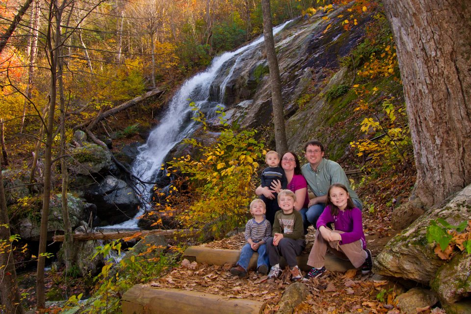 Family at Crabtree Falls